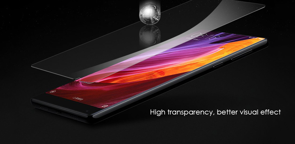 Luanke Tempered Glass Screen Protective Film for Xiaomi Mi MIX Ultra-thin 0.26mm 2.5D 9H Explosion-proof Protector